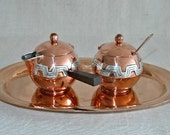Victoria of Taxco - Lidded Sugar Bowl & Creamer set with tray