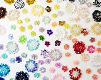 Appliques - Sequin Flowers Appliqués, Glittery Motif (10pcs)