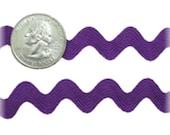 9 MM Ric Rac Trim Ribbon---3 Yards---Purple