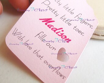 """72 Personalized Rectangle Tag with Heart Size 2""""x3.5""""-Paper Rectangle Labels -Cardstock Small Tags -Paper die cuts -Rectangle Paper Label"""