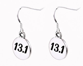 Running Earrings-13.1 Half Marathon Earrings