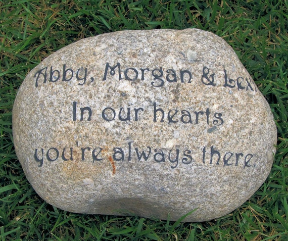 Personalized Memorial Stone Engraved Memorial For A Loved One