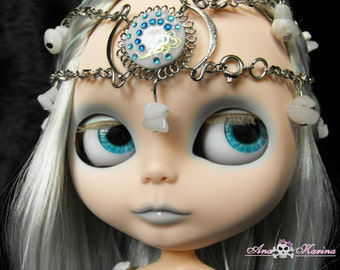 Blythe eye chips OOAK REALISTIC custom set E2, by Ana Karina. UV laminated