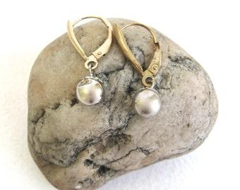 vintage ear wear   ...     sterling and gold filled earrings
