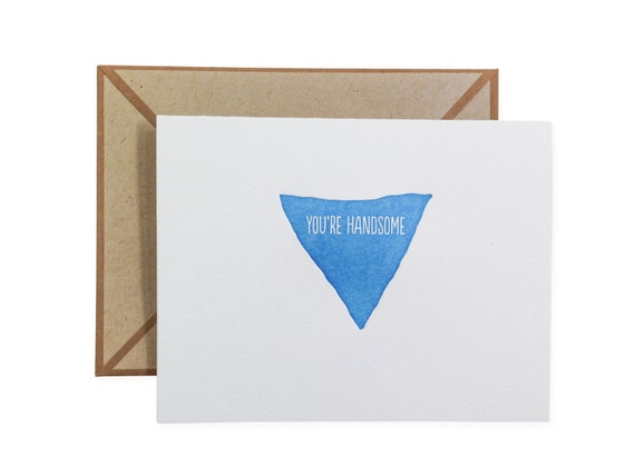 You're Handsome letterpress card - single