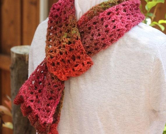 Crochet Pattern Lace Ruffle Scarf : Crochet Scarf Pattern Easy Lace Scarf Patterns Scarf Pattern