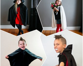 Party Pack 4 capes Child Kids Your Choice Ladybug Butterfly Bat Vampire Witch Super Hero Devil AngelPrincess RedRiding  Hood