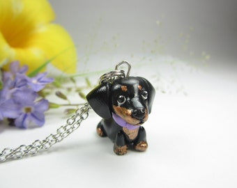Black and Tan Dachshund Necklace, doxie necklace, doxie gifts, doxie dachshund gift, dachshund jewelry , dog jewelry , dog lover gifts