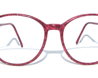 80s Charmant Brand Eyeglasses Women's Vintage 1980's Marbled Pink Frames Made in Japan