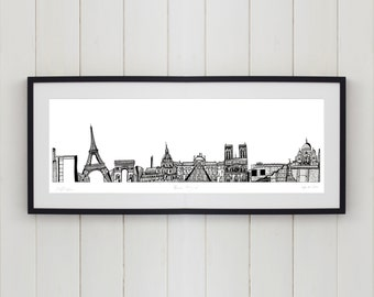 Paris Skyline Limited Edition Screen Print