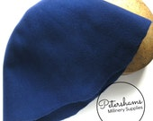 100% Wool Felt Cone Hood Hat Body for Millinery & Hat Making - Blue