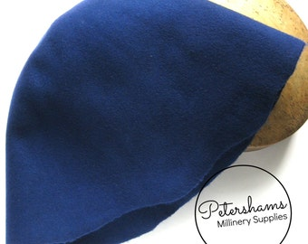 100% Wool Felt Cone Hood Hat Body for Millinery & Hat Making - Blue