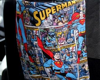 Superman Car Trash Bag Reusable Auto Garbage or Storage