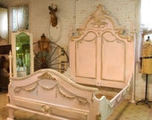 Painted Cottage Chic Shabby French Marie Antoinette Bed MA2