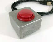 USB Button - Mini Red Photobooth button - Go button - Arcade style