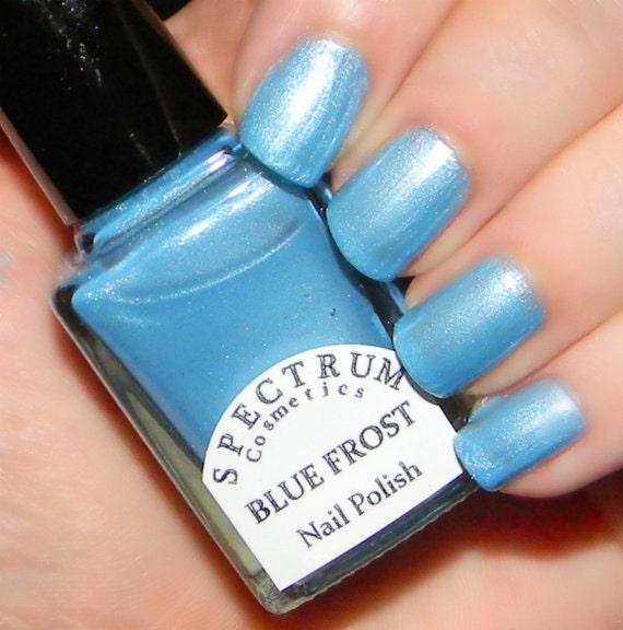 Blue Nail Polish Names: BLUE FROST Frosty Light Blue Nail Polish Winter Blues