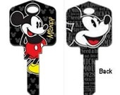 MICKEY MOUSE Key Blank Keys Disney SELFIE Gifts Minnie Mouse House Keys Door Party Favors Cartoon Characters Kids Children Collectors Sc1