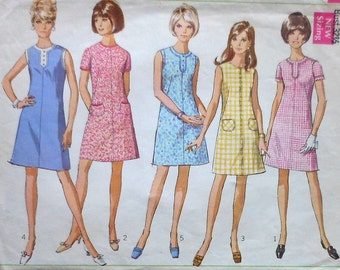 Vintage A-Line Dress Sewing Pattern Simplicity 7530 Size 10