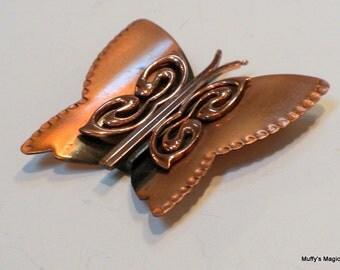 Renoir Matisse Butterfly Copper Brooch