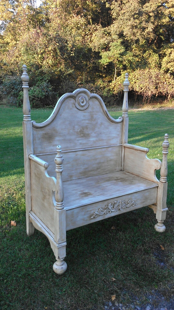 Antique Bed Stool: Items Similar To PainTed BeNch, ShaBBy ChiC BeNch, CoTTaGe