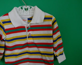 Vintage 1980s Striped Shirt by Health-tex - Size 6 Months