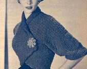 1950 Knit ShrugRetro Digital Download Pattern Retro