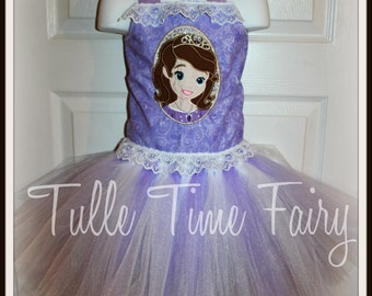 Sofia the First  birthday corset  tutu dress any size 12m 18m 2t 3t 4t 5t 6 7 8 lavender pink tutu