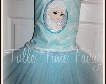 Frozen Elsa Snow Queen corset birthday Lt blue tutu dress Any size 12 months 18 months 2t 3t 4t 5t 6 7