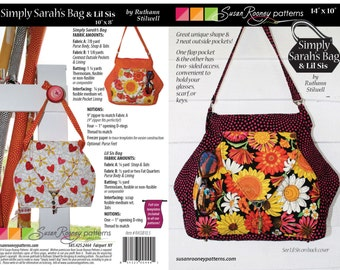 Simply Sarah Bag and Lil Sis purse  Great unique shape with 2 outside pockets