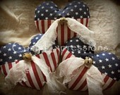 Primitive Patriotic Heart Bowl Fillers/Tucks