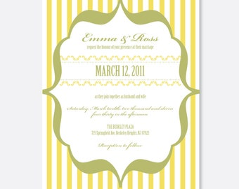 Lemonade Stand Wedding Invitations