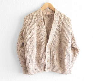 Boyfriend Cardigan Fisherman Sweater Women's Sweater Oversized Sweater Fisherman's Sweater Hipster Sweater Vintage Cable Knit Sweater XS S