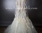Size Small Ivory Burlesque zombie Mummy corset mermaid style dress Ready To Ship
