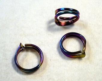 Colored Niobium 2 Turn Wave Energy Ring