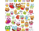 Owl Stickers • Great for Scrapbooking, Gift Wrapping, Crafting, Party Favors, Decorating, DIY Projects, Card Making & Stockings (4238)