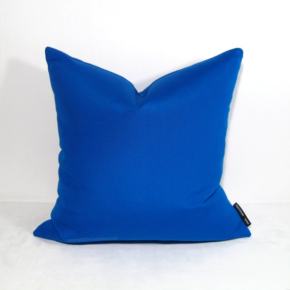 Modern Blue Outdoor Pillows : Cobalt Blue OUTDOOR Pillow Cover Modern Decor by Mazizmuse on Etsy