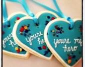 My Hero heart necklace - one dozen