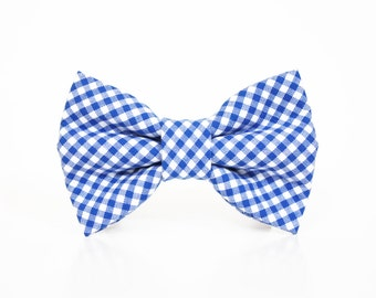 Dog Bow Tie- Gingham, Plaid, and Stripes- More options available- 4th of July
