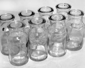 SHIPPING INCLUDED - Halloween Decor as Spooky Potion Jars, Set of Eight, Vintage, Glass, Spice Jars, Great for Use in Crafting or Decorating