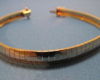 14K Gold Bracelet Flat Link