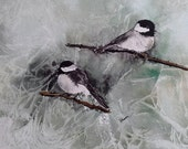 "Watercolor Print Limited Edition- ""Chickadee"" Bird Painting"
