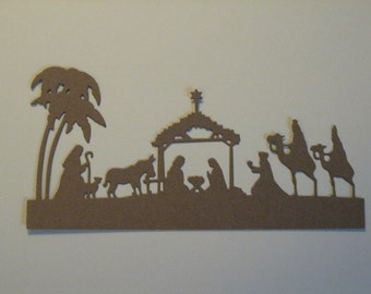 6 Nativity Die Cuts: Kraft Brown Christmas Stamping supplies Handmade card