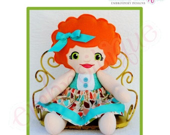 Doodley Dolls Sophia Add On PDF Sewing & Embroidery Pattern- Posh and Proper - Instant Download -Digital Machine Embroidery Design