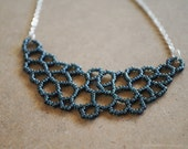 SALE 15% OFF - Slate Gray Cellular Necklace - Small