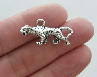 BULK 20 Jaguar charms tibetan silver A148