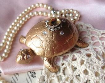 Cast Iron Turtle Hide a Key/ Ring Holder/Trinket Holder/Jewelry holder/French Decor/ Trinket Box