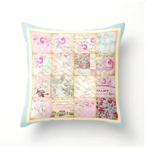 Large Shabby Chic Throw Pillows : Shabby Chic Decorative Throw Pillow accent cushion scatter
