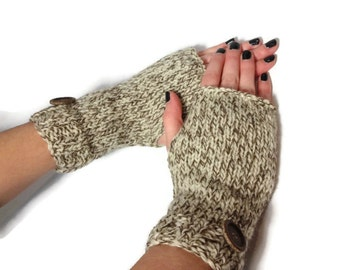 Knit Gloves, Fingerless Mittens, Texting Gloves, Fingerless Gloves, Fashion Accessories, Hand Warmers, Gift Idea For Her,  Wrist Warmers