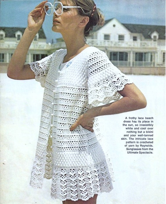 Crochet Beach Cover Up Dress Pattern Free Crochet Summer Tunic