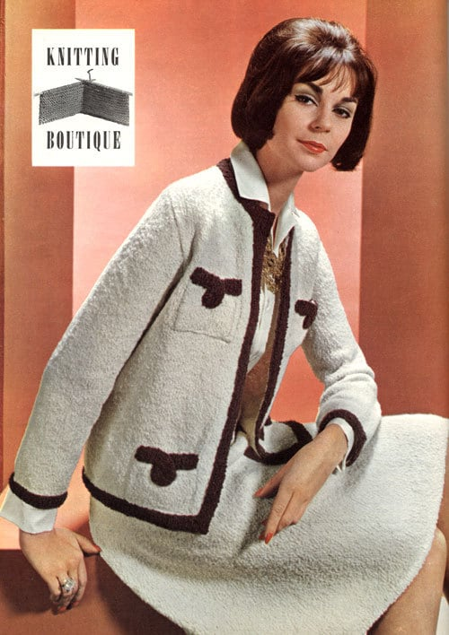 Knitting Pattern Chanel Style Jacket : Knitting PATTERNS Ladies Classic Knit Suit 3234 and 36 in